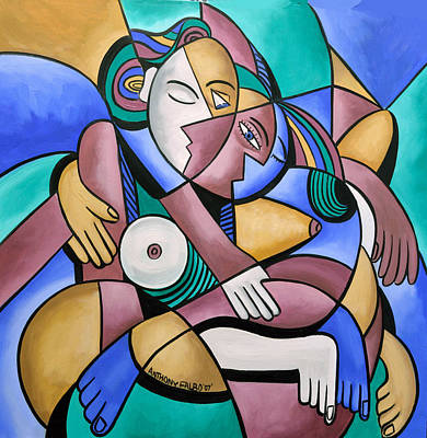 Family Love Painting - Endless Love by Anthony Falbo