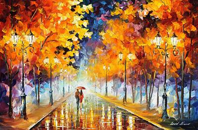 Unique Oil Painting - Endless Love by Leonid Afremov