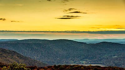 Autumn Photograph - Endless Mountains Sunset 2 by Steve Harrington