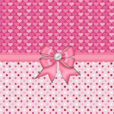Valentines Day Digital Art - Endless Pink Hearts by Debra  Miller