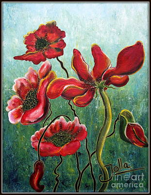 Painting - Endless Poppy Love by Jolanta Anna Karolska