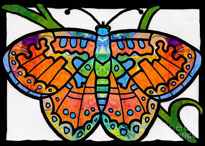 Endless Possibilities Abstract Butterfly Art By Omaste Witkowski Art Print