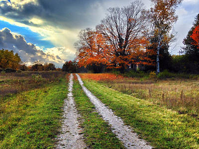 Fall Road Photograph - Endless Road by Jeff Klingler