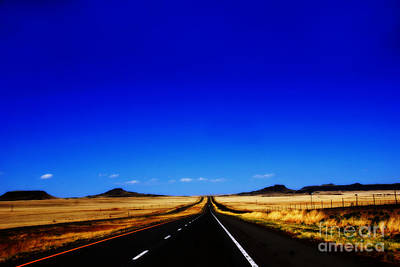 Endless Roads In New Mexico Art Print by Susanne Van Hulst