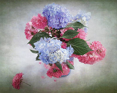 Photograph - Endless Summer Hydrangeas And Roses Still Life by Louise Kumpf