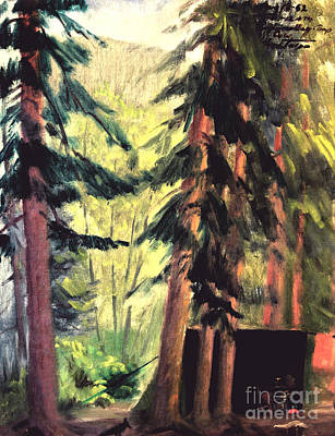Painting - Endo Valley Campground by Art By Tolpo Collection