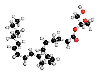 Cb1 Wall Art - Photograph - Endocannabinoid Molecule by Molekuul/science Photo Library