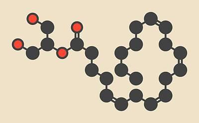Cb1 Wall Art - Photograph - Endocannabinoid Neurotransmitter Molecule by Molekuul/science Photo Library