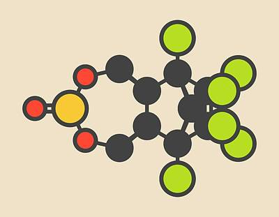 Toxicity Photograph - Endosulfan Insecticide Molecule by Molekuul
