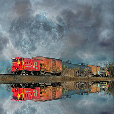 Caboose Photograph - End's Reflection by Betsy Knapp