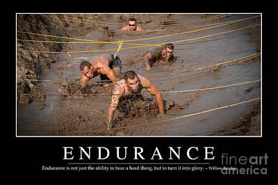 Endurance Inspirational Quote Art Print by Stocktrek Images