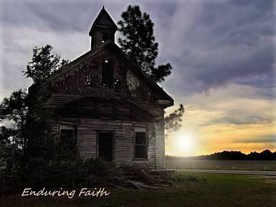 Wooden Ware Photograph - Enduring Faith by Laura Ragland