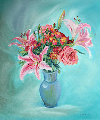 Painting - Enduring Love Bouquet by Asha Carolyn Young
