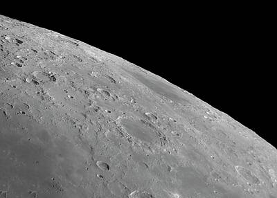 Endymion Photograph - Endymion Crater And Mare Humboldtianum by Damian Peach