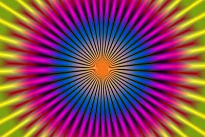 Energetic Hypno Disc Rectangular Art Print