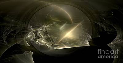 Meditative Digital Art - Energy Breaks by Peter R Nicholls