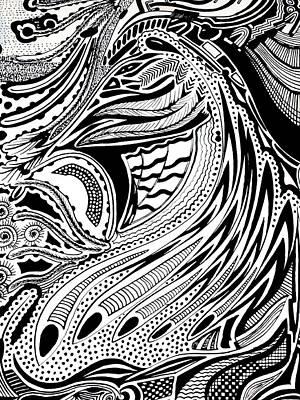 Pen And Ink Drawing - Energy by Ingrid Van Amsterdam