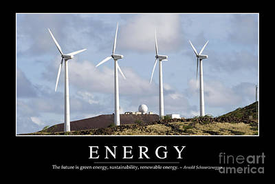 Photograph - Energy Inspirational Quote by Stocktrek Images