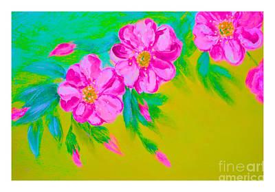 Mixed Media - Energy Of Flowers by Oksana Semenchenko