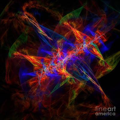 Abstract Digital Art - Energy by Olga Hamilton