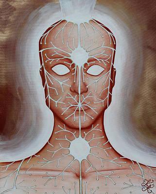 Radiating Chakra Painting - Energy Portrait by Karen Kliethermes