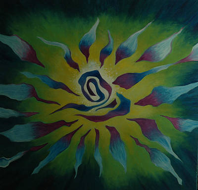 Star Burst Painting - Energy Release by Joyce Hayes
