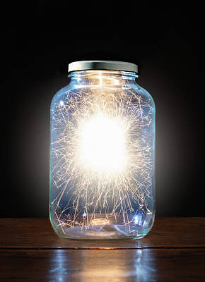 Trapped Photograph - Energy Trapped In Jar by Pm Images
