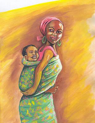 Painting - Enfance De Reves by Emmanuel Baliyanga