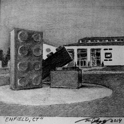 Lego Drawing - Enfield Ct by Tim Murphy