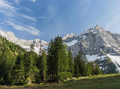 Large Format Photograph - Eng Valley, Karwendel Mountain Range by Martin Zwick
