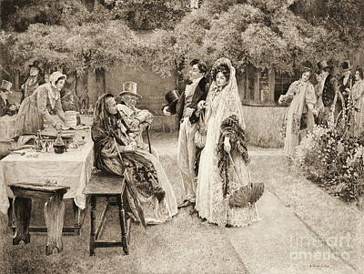 Engagement Announcement 1898 Art Print by Padre Art