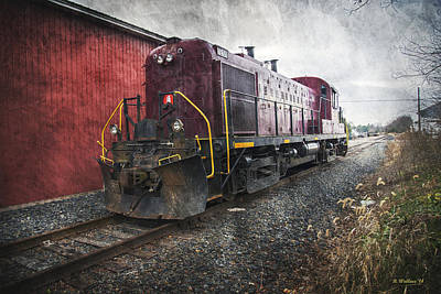 Shed Digital Art - Engine 1201 by Brian Wallace