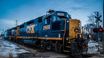 Photograph - Engine 2668 by Ronald Grogan