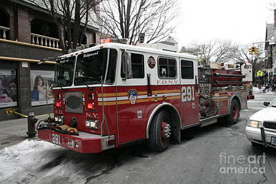 Photograph - Engine 291 Fdny by Steven Spak