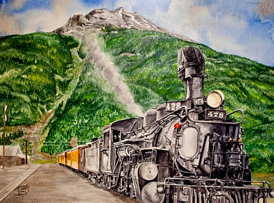 Art Print featuring the painting Engine 478 by Jessica Tookey