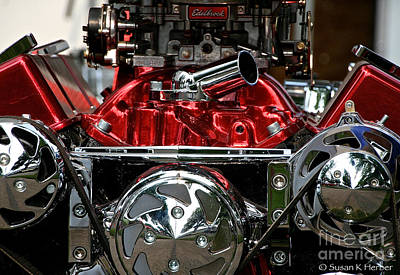 Photograph - Engine Art by Susan Herber