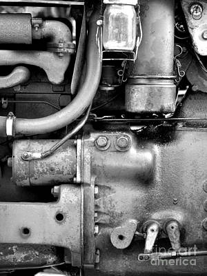 Photograph - Engine Black And White by Staci Bigelow