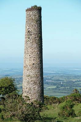 Engine House Photograph - Engine House Chimney by Sinclair Stammers