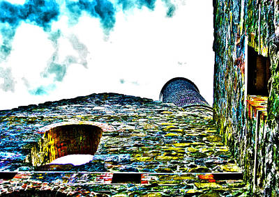Sky Photograph - Engine House Walls by Paul Howarth