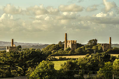 Mining Photograph - Engine Houses by Paul Howarth