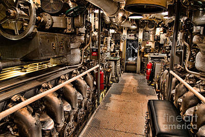 Photograph - Engine Room by Jon Burch Photography