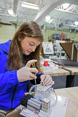 Lauren Photograph - Engineering Academy Student by Jim West