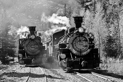 Photograph - Engines 480 And 486 by Marta Alfred