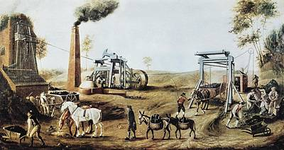 England 18th C.. Industrial Revolution Art Print by Everett