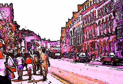 Digital Art - England 1986 Oxford Street Snapshot0145a Jgibney The Museum Zazzle Gifts by jGibney The MUSEUM Artist Series jGibney