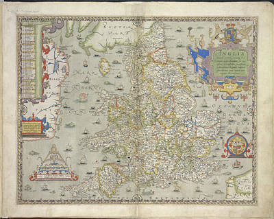 Cartography Photograph - England And Wales by British Library