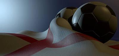 Soccer Digital Art - England Flag And Soccer Ball by Allan Swart