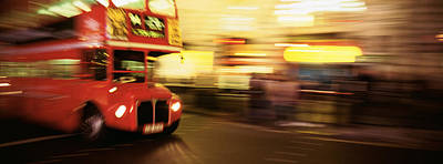 Bus Photograph - England, London, Bus On The Street by Panoramic Images