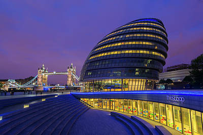 England, London City Hall And The Tower Art Print by Jaynes Gallery
