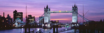 Gothic Bridge Photograph - England, London, Tower Bridge by Panoramic Images